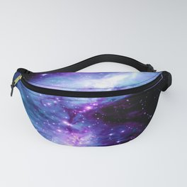 Galaxy : Orion Nebula Violet Purple Teal Blue Fanny Pack