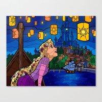 lanterns Canvas Prints featuring LANTERNS by Chris Thompson, ThompsonArts.com