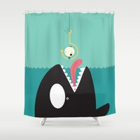 orca Shower Curtains featuring orca by Alfonso Cervantes