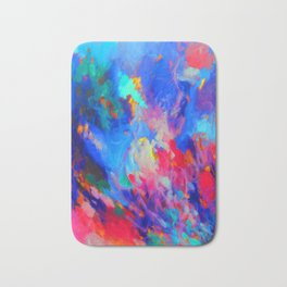 Blue Fire Bath Mat