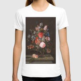 "Adriaen van der Spelt ""Still life of flowers on a stone ledge"" T-shirt"