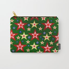 grenn,blue,gold,red stars xmas pattern Carry-All Pouch