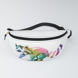 Racoon Colorful Fanny Pack