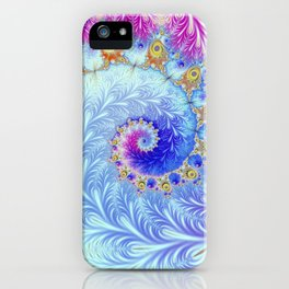 Pink Ice Spiral Fractal iPhone Case