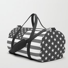 National flag of the USA, B&W version Duffle Bag