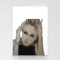 miley cyrus Stationery Cards featuring Miley Cyrus by Brittany Ketcham