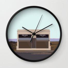 Marfa Installation: A digital illustration Wall Clock