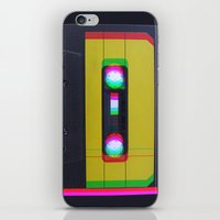 cassette iPhone & iPod Skins featuring Cassette by Michal