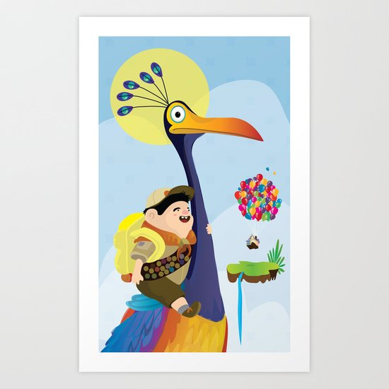 Kevin and russel Art Print