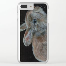 Rescued baby bunny Clear iPhone Case