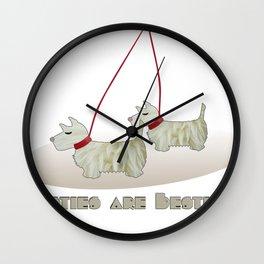 Westies are Besties 2 Wall Clock