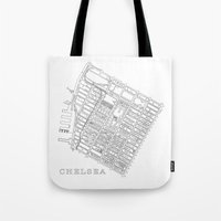 chelsea Tote Bags featuring Chelsea by DRAW NORTH