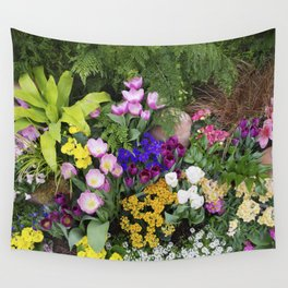 Floral Spectacular - Spring Flower Show Wall Tapestry