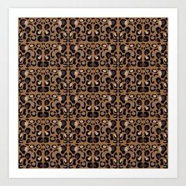 Leopard Suede Art Print