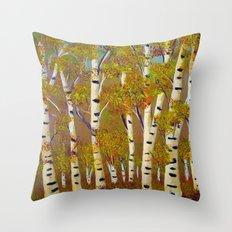 Birch trees-3 Throw Pillow