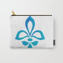 Blue Fleur De Lis Abstract Carry-All Pouch