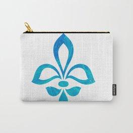 Blue Fleur De Lis Abstract Carry-All Pouch