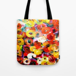 Aboriginal Art - Finger Painting Tote Bag