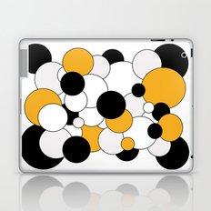 Bubbles - orange, black, gray and white Laptop & iPad Skin