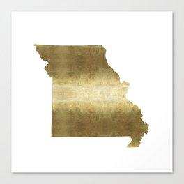 missouri gold foil state map Canvas Print