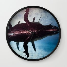 Alligator Reflection Wall Clock