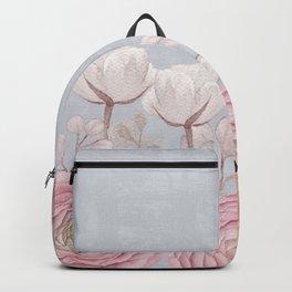 Floral Spring Greatings - Pastel Flowers Backpack