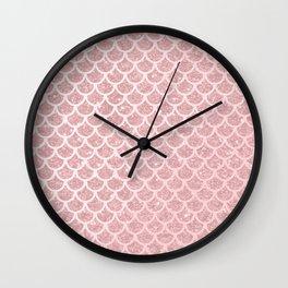 Blush Mermaid Glitter Wall Clock