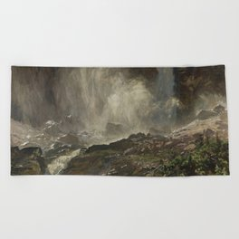 John Singer Sargent - Yoho Falls Beach Towel