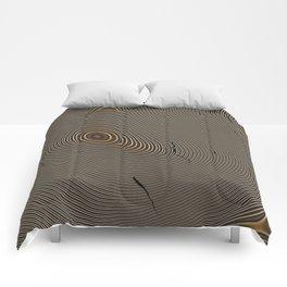 Tree Rings 1 Comforters