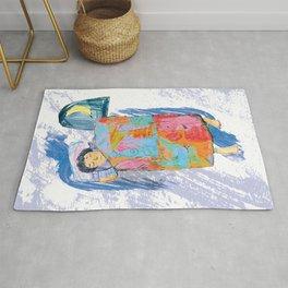 Sleeping and dreaming illustration, design for children Rug