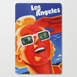 Retro Los Angeles California Travel Poster Cutting Board