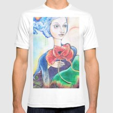 painted lady Mens Fitted Tee MEDIUM White