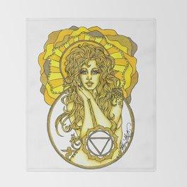 Solar Plexus Chara Throw Blanket
