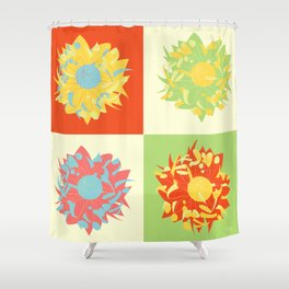 Abstract Chrysanthemums Shower Curtain