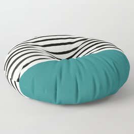 Teal x Stripes Floor Pillow