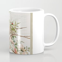 Vintage Bird with Eggs in Nest Coffee Mug
