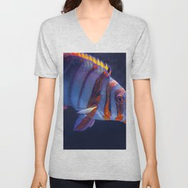 Clown Fish (Color) Unisex V-Neck