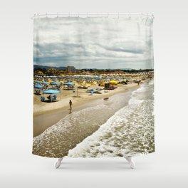 Versilia Italy Beach Ocean Coast View Vertical Shower Curtain