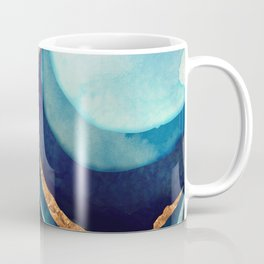 Abstract Blue with Gold Coffee Mug