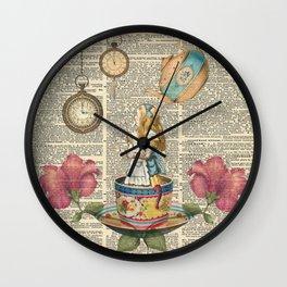 It's Always Tea Time - Alice In Wonderland Wall Clock