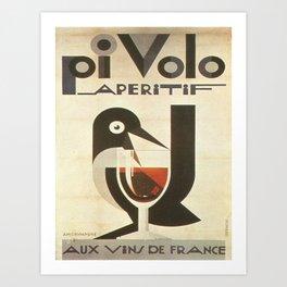 Vintage poster - Pivolo Aperitif Art Print
