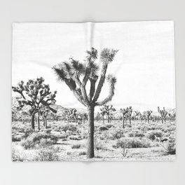 Joshua Tree Throw Blanket