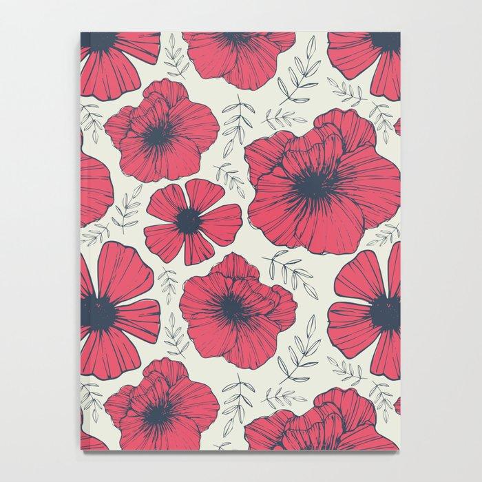 Raspberry Flowers Notebook