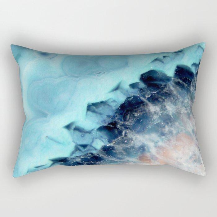 Ocean Agate Rectangular Pillow