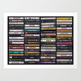 Old 80's & 90's Hip Hop Tapes Kunstdrucke