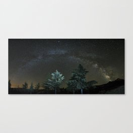 Milkyway at the mountains II Canvas Print