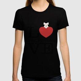 Love Cute Great Pyrenees T-shirt