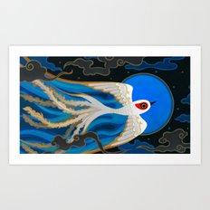 Moon bird Art Print