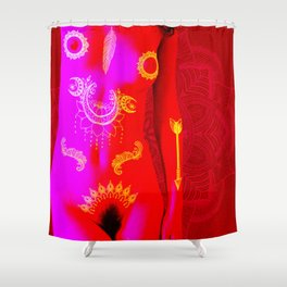 Quiverish Black Light Boho 6 Shower Curtain