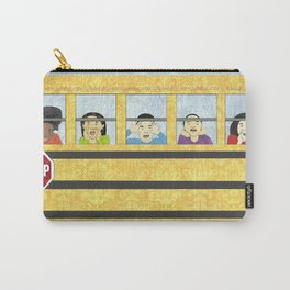 Big Yellow School Bus Carry-All Pouch